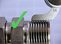 How do you measure threads on a hydraulic fitting