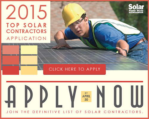 2015 Top Solar Contractors Application